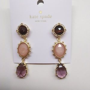 Kate Spade New Amethyst Small Linear Earrings